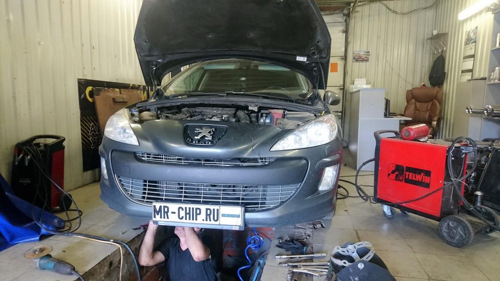 Удаление сажевого фильтра на Peugeot 308