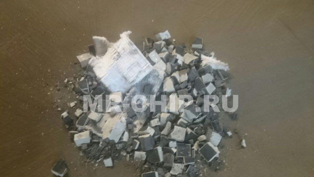 Выбитые соты сажевого фильтра на БМВ X5 E70