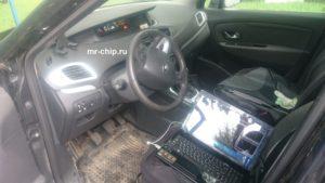 Процесс прошивки ЭБУ Renault Scenic 3