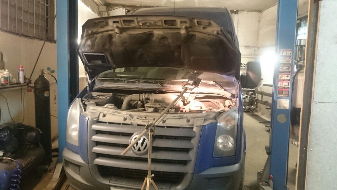 Volkswagen Crafter программное отключение AdBlue, сажевого фильтра и физическое удаление сажевого фильтра.